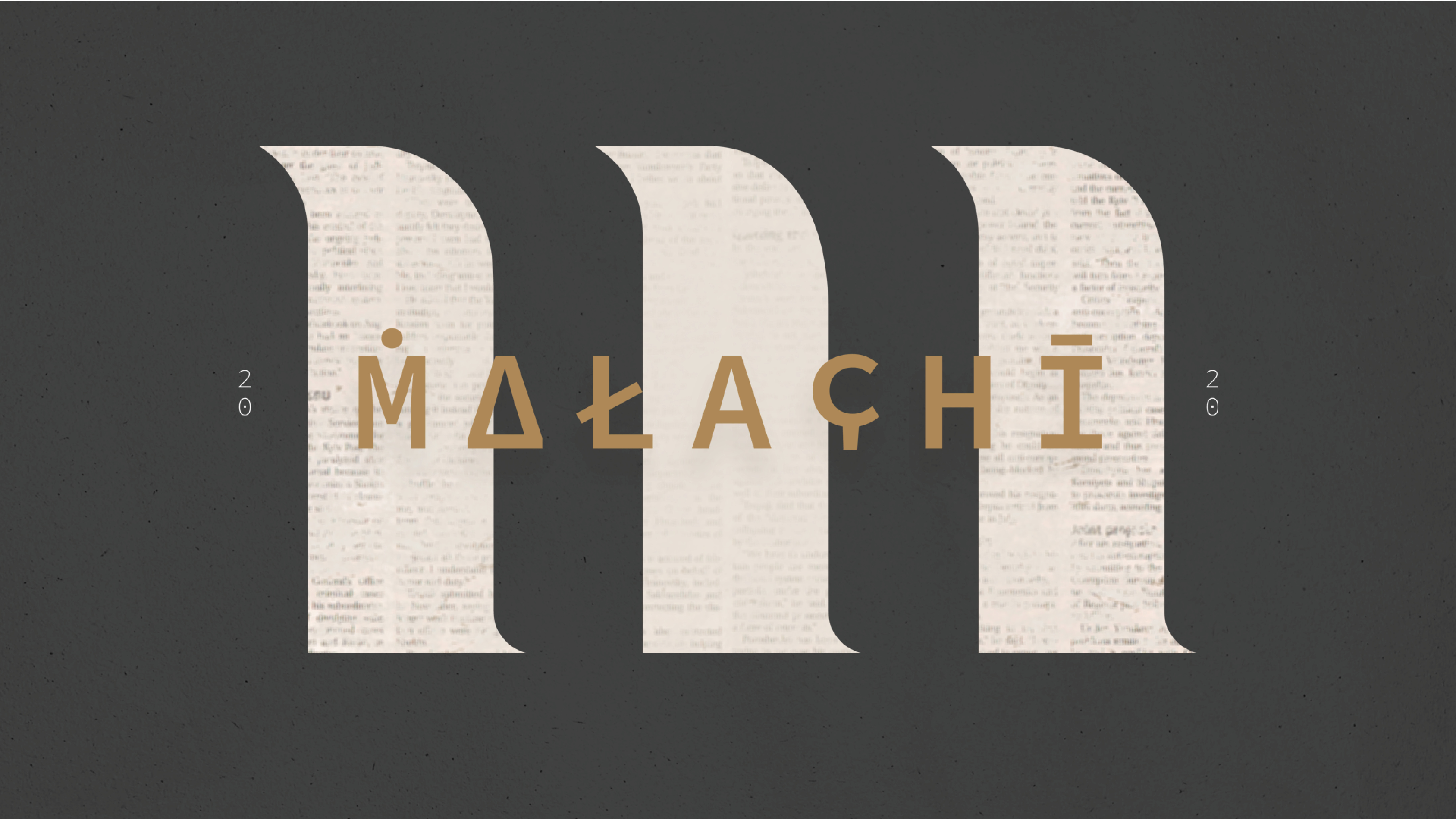 Malachi - Week 5: Our God is ONE: First Fruits